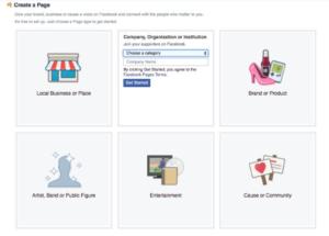 Sección de información de tu empresa en tu página de Facebook