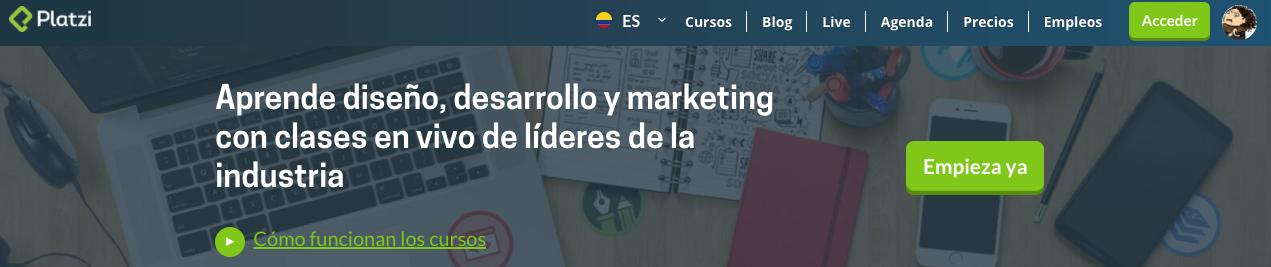 Plataforma de e-learning. Startup Colombiana