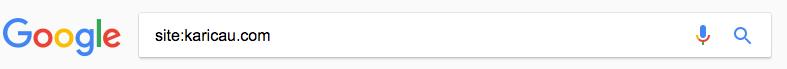 Comando site Google para investigar, sitios indexados